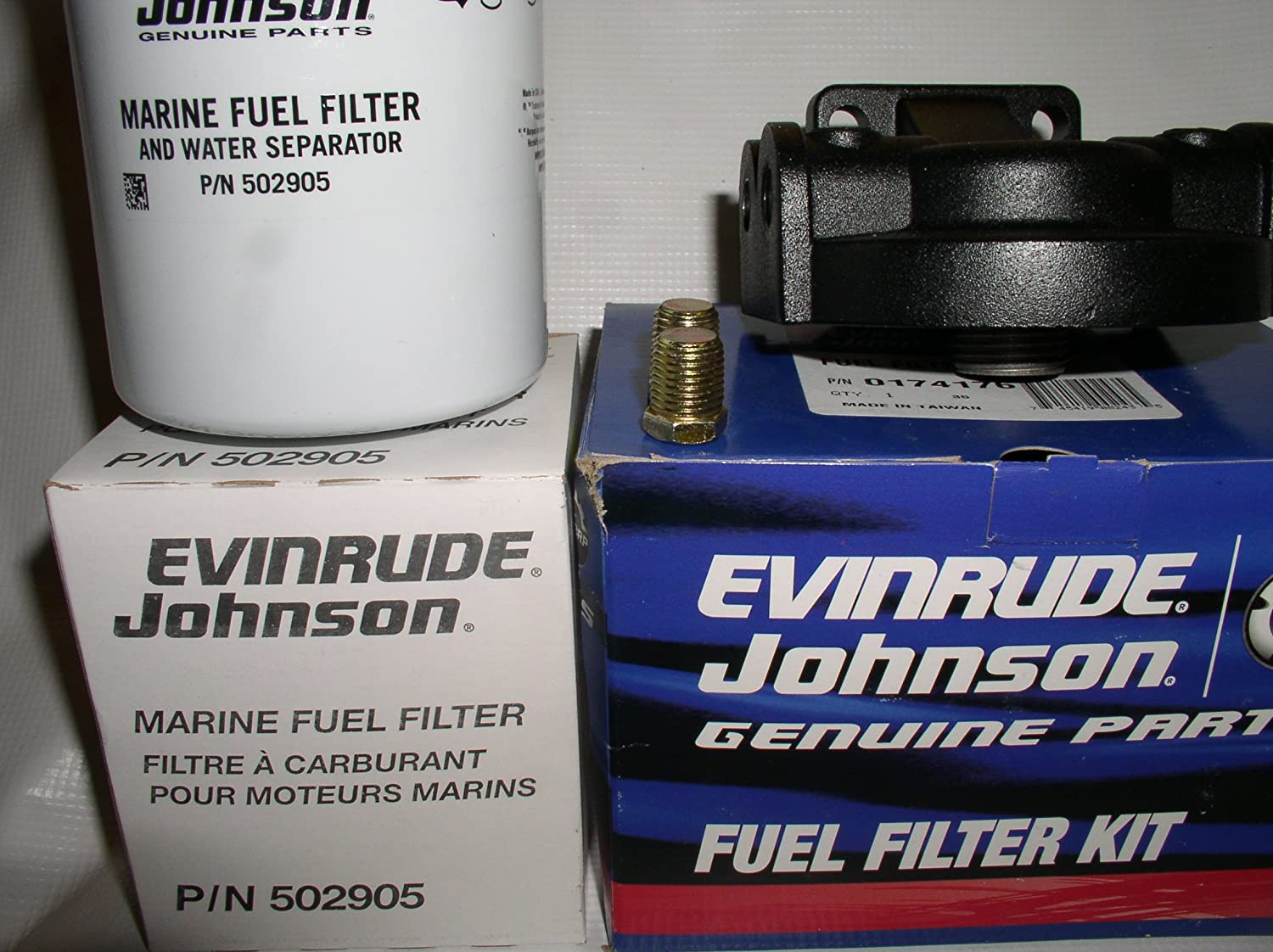 Amazon.com: OEM Evinrude Johnson BRP Fuel Filter/Water Separator Kit, 25  Micron - 174176: Sports & Outdoors