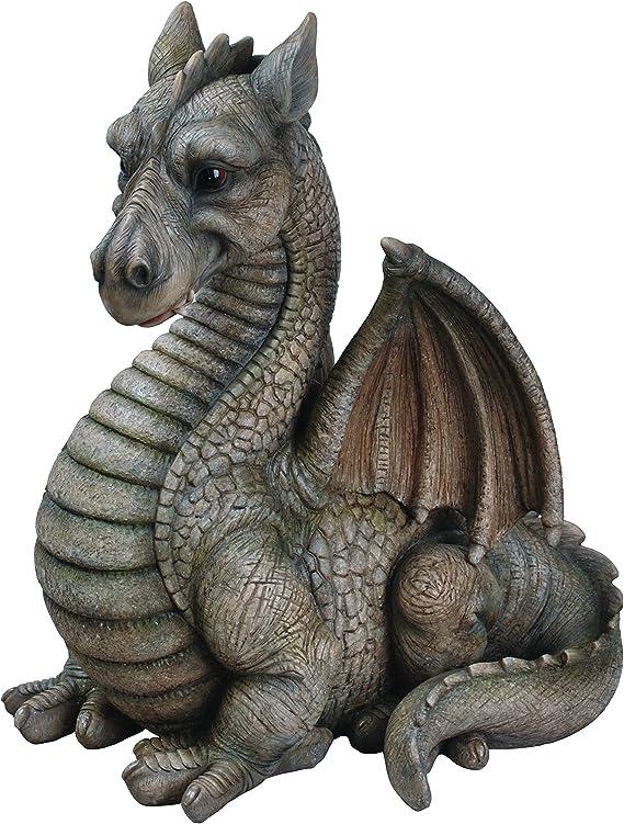Vivid Arts BG-DGRE-A Large Winged Dragon Resin Ornament Red