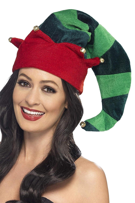 Smiffys Gorro de Elfo, Verde, con campanillas: Amazon.es: Juguetes y juegos