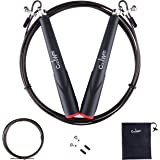 Jump Rope, Adjustable Skipping Rope Best for Boxing MMA Fitness Training, Speed Lightweight with Extra Weighted Cable and Portable Nylon Bag for Double Unders