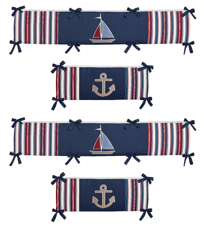 Nautical Nights Collection Crib Bumper by Sweet Jojo Designs