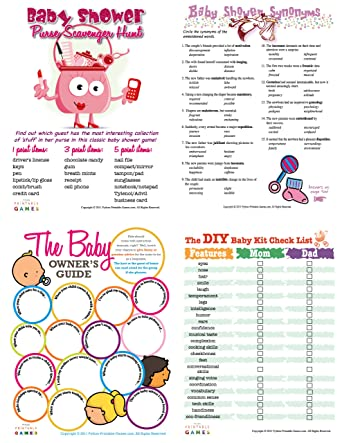 Amazon Printable Baby Shower Games Pack For Mac Download