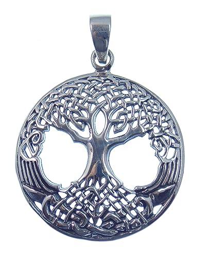 Baum des Lebens, Silber Anhänger aus 925 Sterling Silber, Symbol der ...
