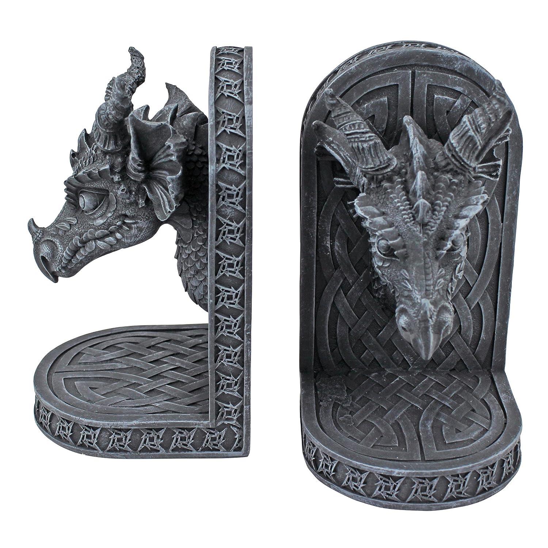 Design Toscano Grey Friar Dragon Bookends CL2649