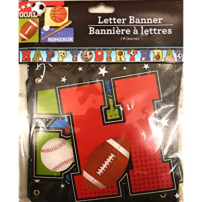 Greenbrier Intl Sports Themed Happy Birthday Letter Banner: Toys & Games