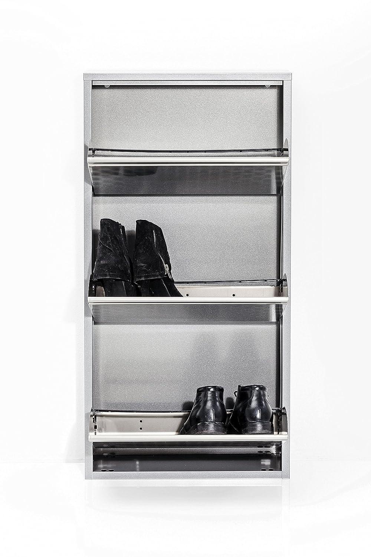 Schuhkipper Caruso, Metall, schmal, klein, Silber, 3 Klappen ...