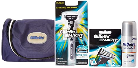 c861aaf24161 Buy Gillette MACH3 Limited Edition Travel Pack (free Gillette kit bag)  Online at Low Prices in India - Amazon.in