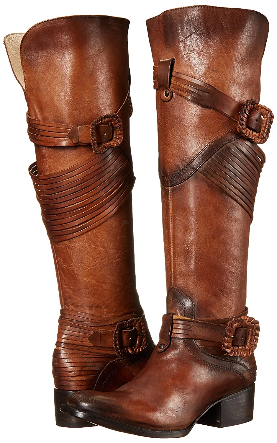 Deluxe Adult Costumes - Assassin's Creed: The Movie Women's Stela Harness Brown Leather Buckle Boots