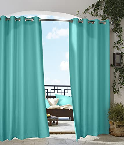Thermalogic 50×84 Outdoor Decor Gazebo curtain panels, 50 by 84-Inch, Aqua