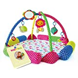Salinka Baby Activity Play Gym - Superior quality crawling baby play mat for toddlers - Tested to European Standards EN71 and EN62 115 - phatalates and lead FREE - Ebook as a gift