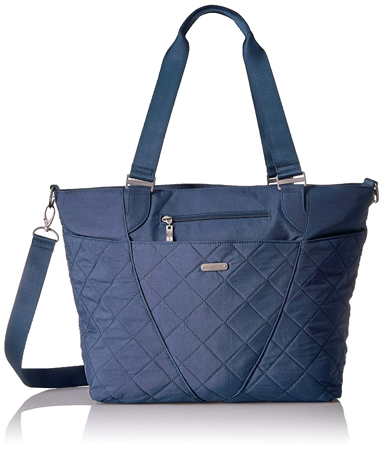 Baggallini Quilted Avenue Tote with Rfid Black Quilt FAT17 QAV189