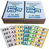 10libros de 1–500rifas y guardarropa (10unidades con/resguardos–10diferentes colores