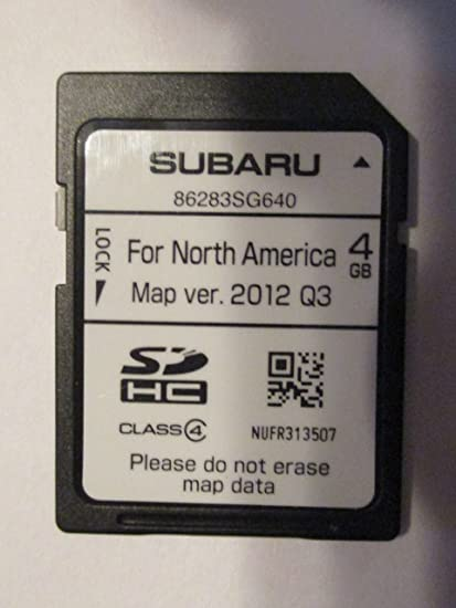 Amazon com: SG640 2015 SUBARU FORESTER NAVIGATION CARD MAP