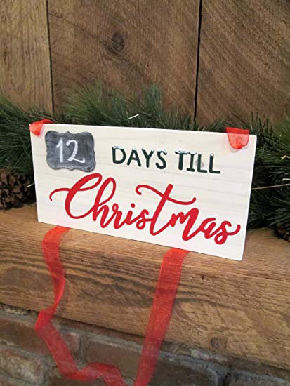 Countdown To Christmas Sign.Amazon Com Ruskin352 Christmas Countdown Sign Countdown To