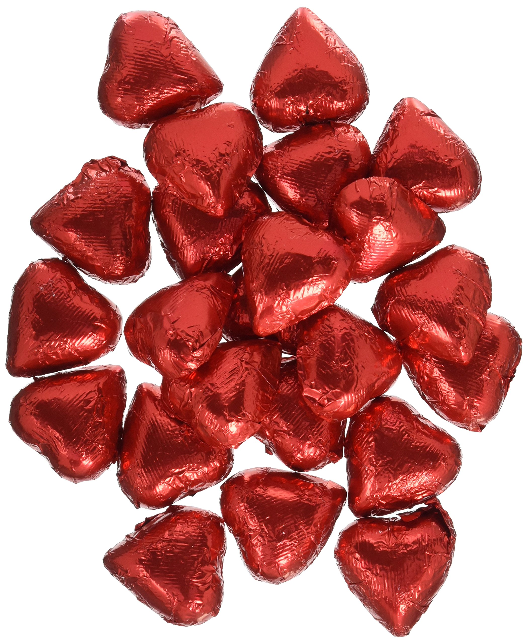 Sweetworks Foil Wrapped Hearts, Red Niagara, 10 Pound by SweetWorks