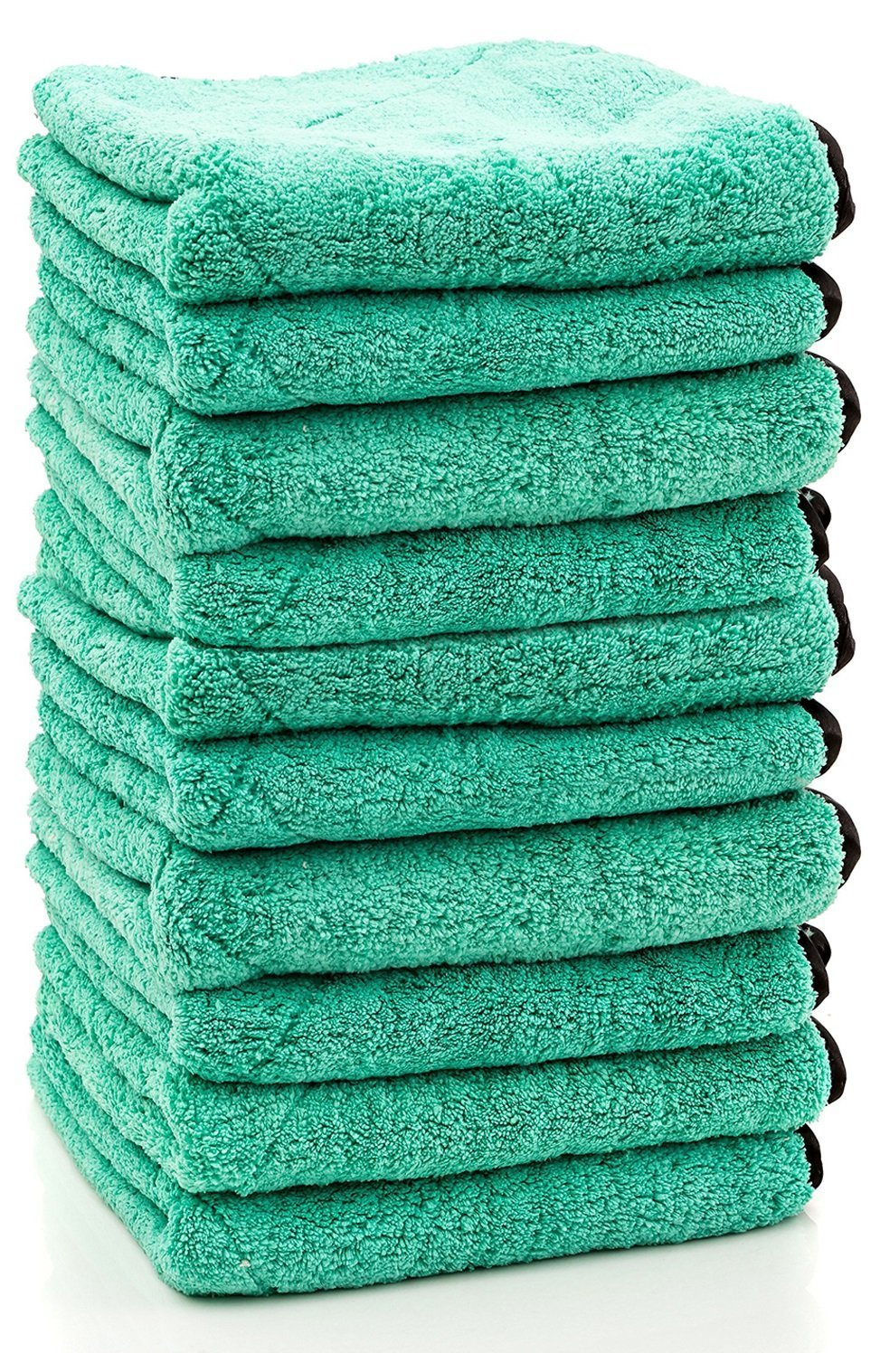 10 Pack - Ultra Plush Velvet Microfiber Towels LARGE 14'' x 14'' Size - Ultra Thick 700 GSM - Polishing, Detailing, Cleaning Towel for Fine Automobile Finishes, Car Windows, Glass & More!