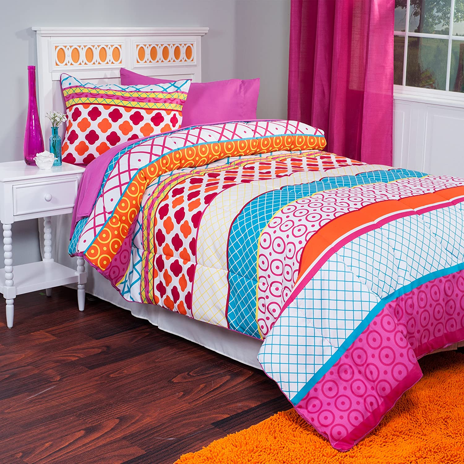 sunham brianna and summer pc pink comforter closeout king yellow callie shopping blue set reversible navy multi special shop