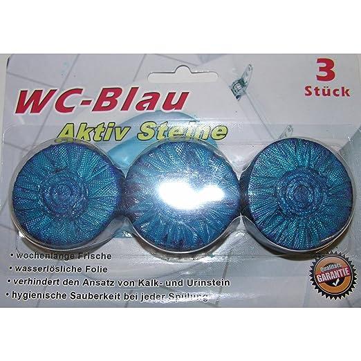 3 x WC pastillas Azul agua Buzón pastillas lavavajillas Tabs ...