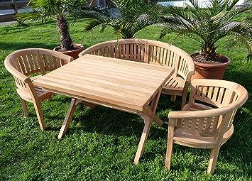 Amazonde Rustikale Super Edle Teak Gartengarnitur Gartenset