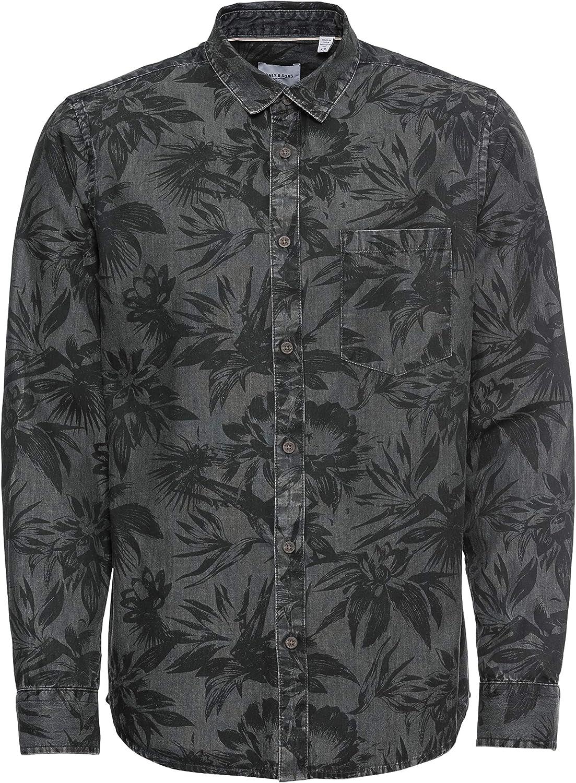 Only & Sons Onstheo LS Printed Chambray Shirt Camisa para Hombre
