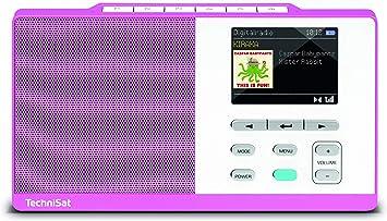 Technisat Digitradio Kira 1 Tragbares Dab Radio Dab Ukw Radiowecker Farbdisplay Favoritenspeicher Kopfhöreranschluss Sechs Frei Belegbare Direktwahltasten Magenta Weiß Heimkino Tv Video