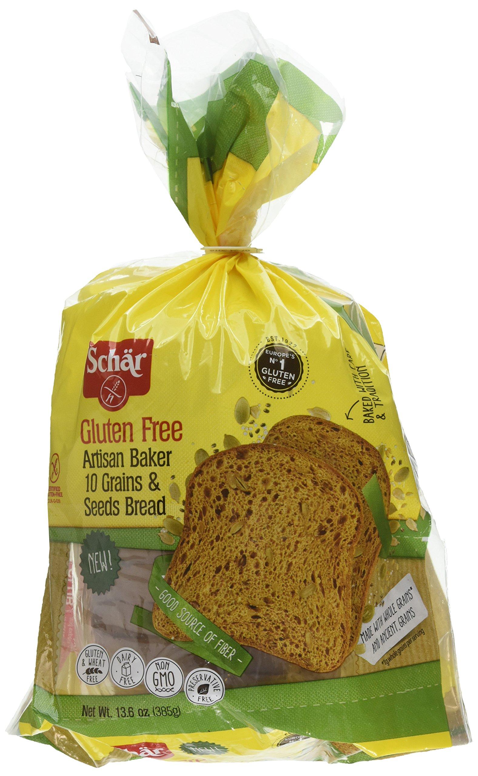 Schar Gluten Free Artisan Baker 10 Grain & Seeds Bread, 6 Count by Schar