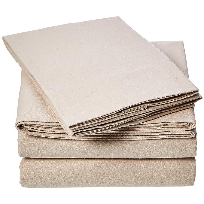 Amazon.com: AmazonBasics - Juego de sábanas de franela para ...