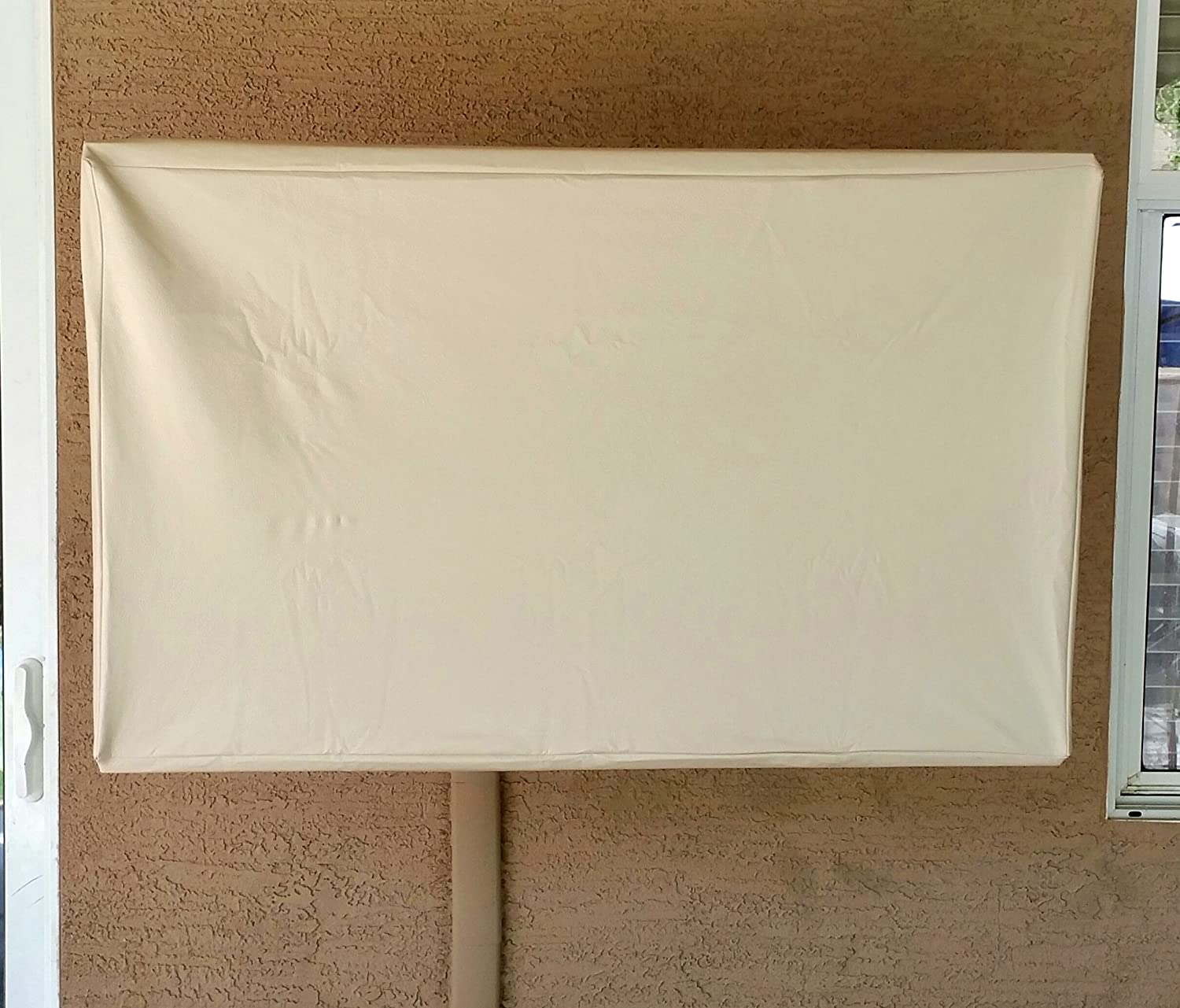 "70/"" Cream Indoor Outdoor TV Cover for flat panel TV MOSSCOVERS"