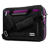 """Vangoddy El Prado 3-in-1 Messenger + Backpack + Briefcase for 15-15.6"""" Laptop- Inspiron 15.4"""" portafolios Negro, Negro/Morado, 13-14"""""""