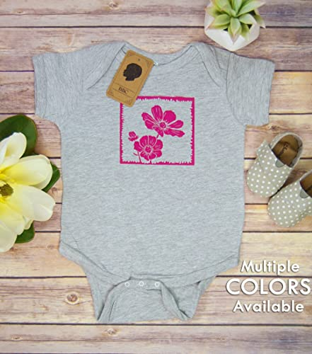c65404ccd32e Amazon.com  Flower Baby Bodysuit  Handmade