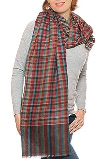 Tuch aus Wolle und Seide mit herbstlichem Design