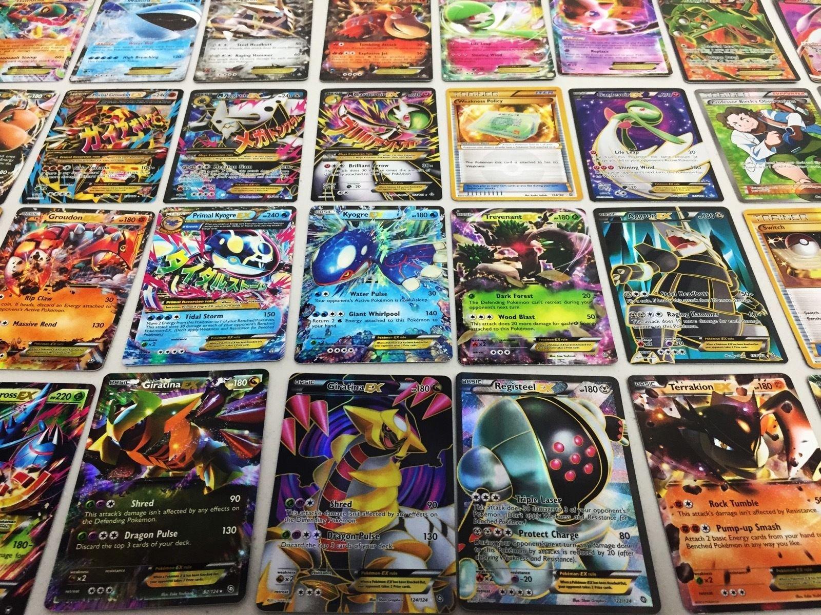 Pokemon TCG : 100 CARD LOT RARE, COMMON, UNC, HOLO & GUARANTEED EX CARD + 10 FREE CARDS!!!