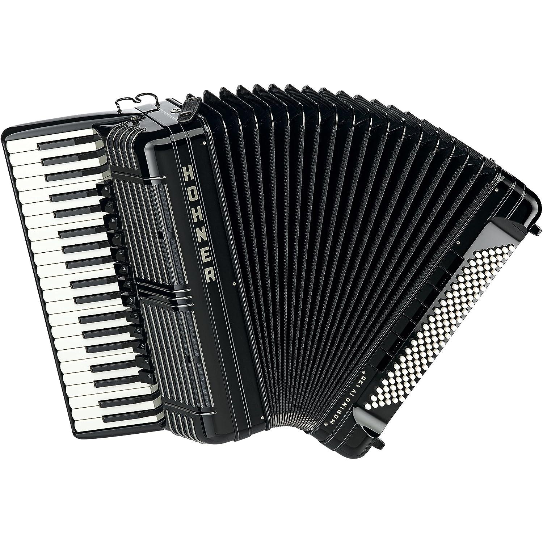 piano-accordion Morino + IV 120Bass, IV Voices, Black Hohner