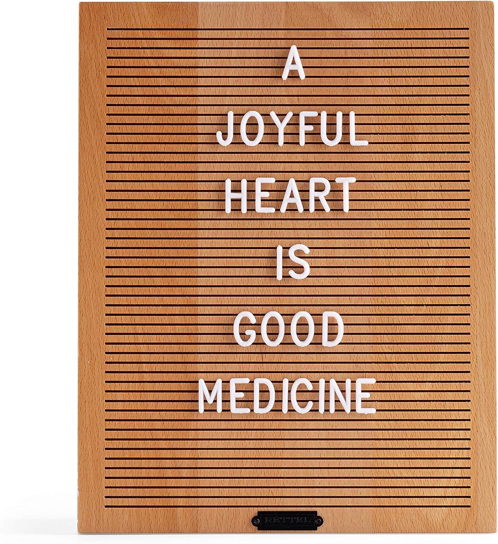 RETTEL Light Wood Letter Board, Trendy Wall Decor, No Felt Letter Board, Home Decor Letter Board (Natural, 11X14)