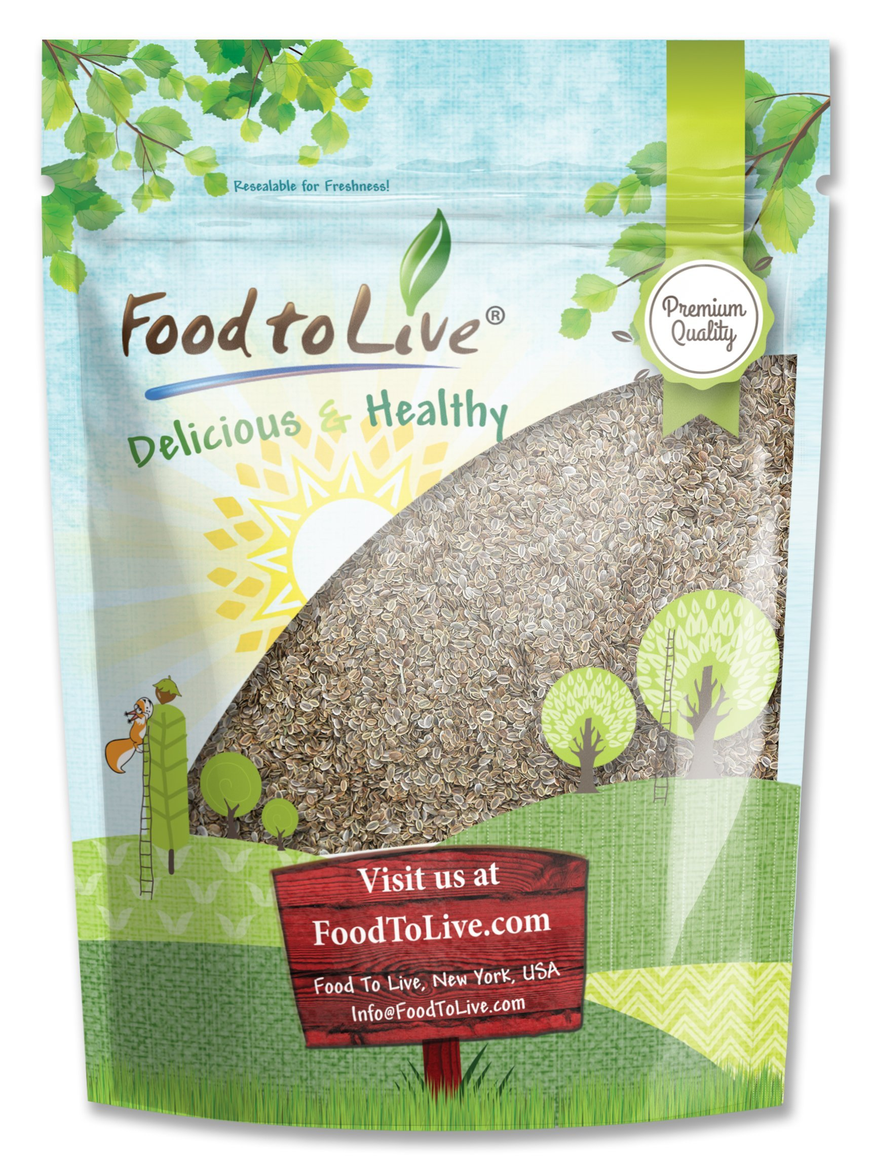 Dill Seeds Whole by Food to Live (Kosher, Bulk) — 1 Pound