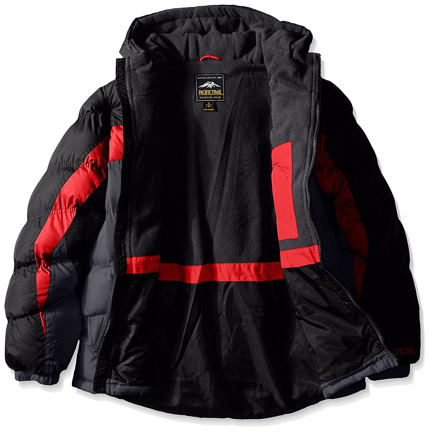 4a779ed9352 Amazon.com: Pacific Trail Boys' Puffer Coat with Fleece Lining: Clothing