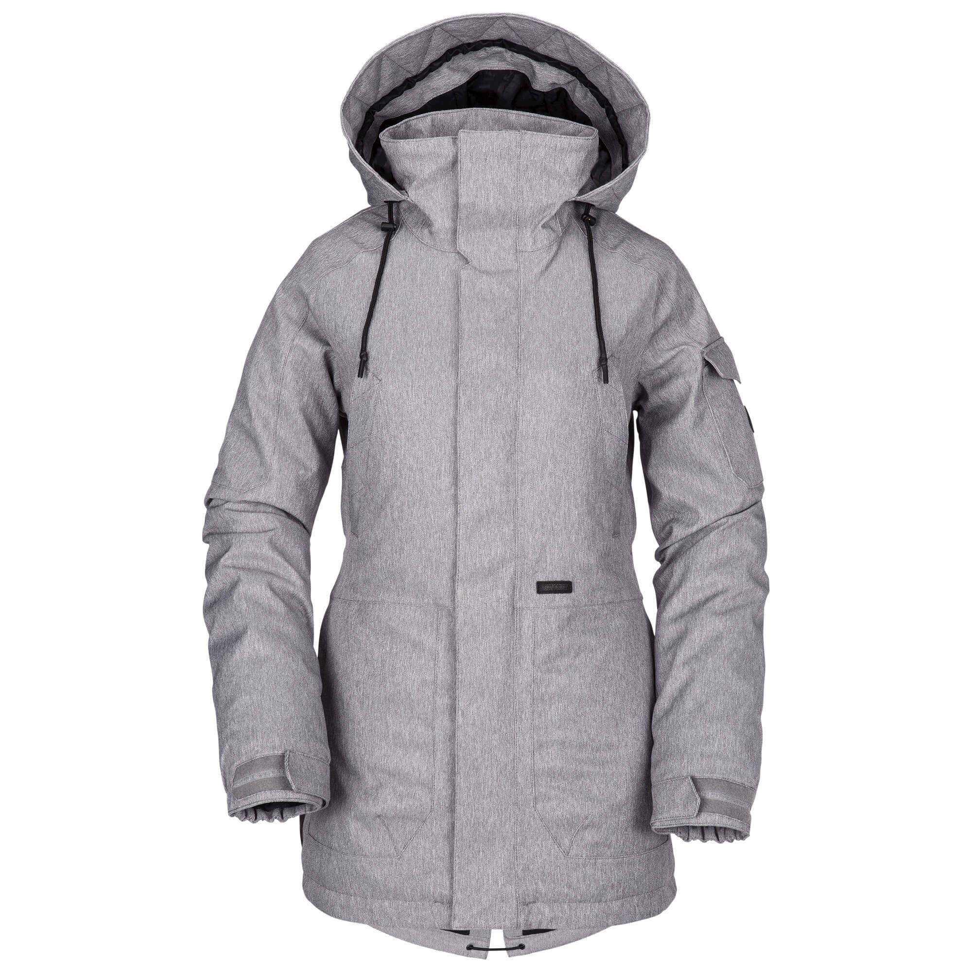 fd0900cd9e1daa Volcom Women's Shrine Insulated Snow Jacket, Heather Grey, Extra Small