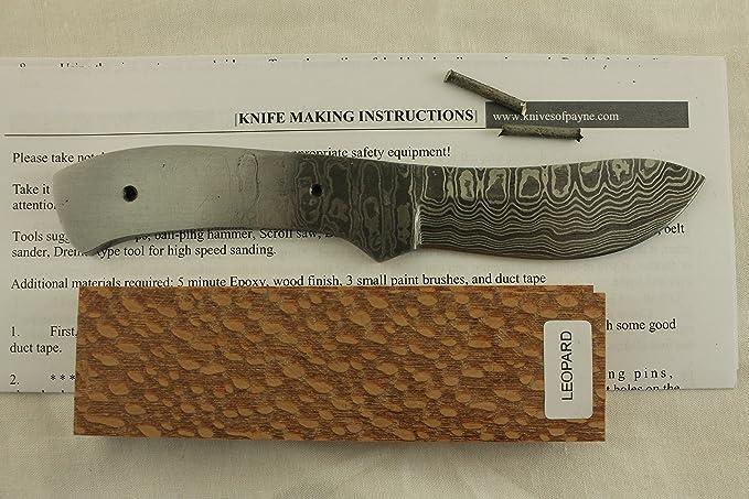 Amazon.com: Juego de cuchillos de Damasco de hoja de 7 ...