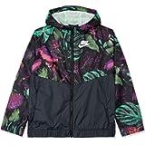 Nike Girls Sportswear Printed Windrunner Jacket (Frosted Spruce/Medium)