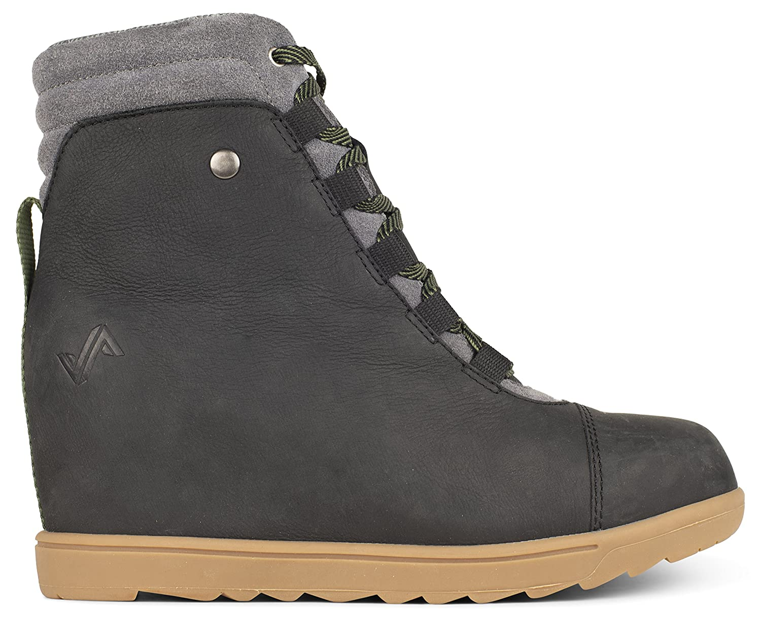 Forsake Alma – Women's Leather Wedge Water-Resistant Boot B075YGSRQM 6.5 M US|Black