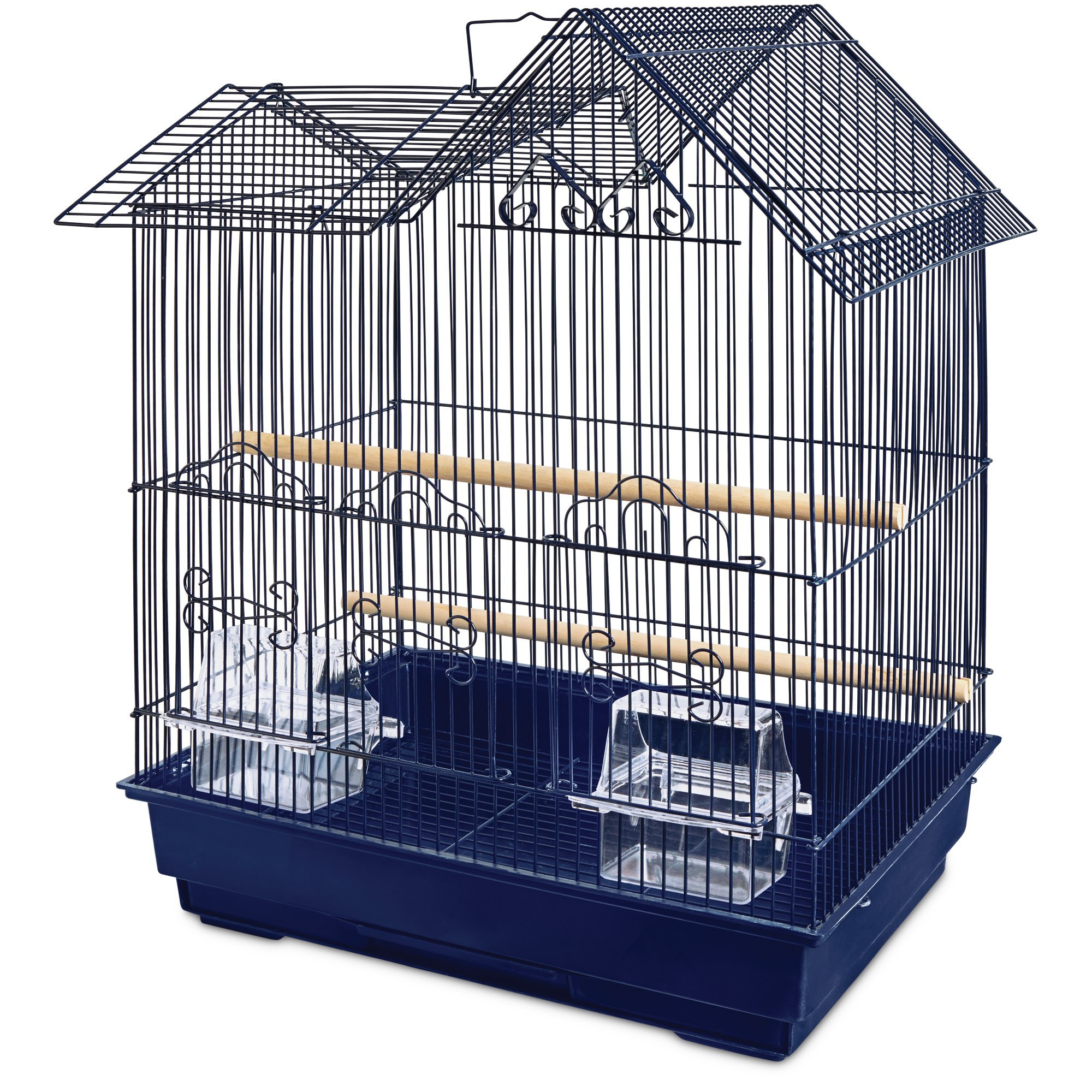 You&Me Parakeet Ranch House Cage, Navy, 16.5 in, Blue