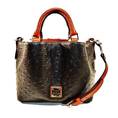 Amazon.com  Dooney   Bourke MINI Barlow Ostrich satchel Black  Shoes e4deb68f54