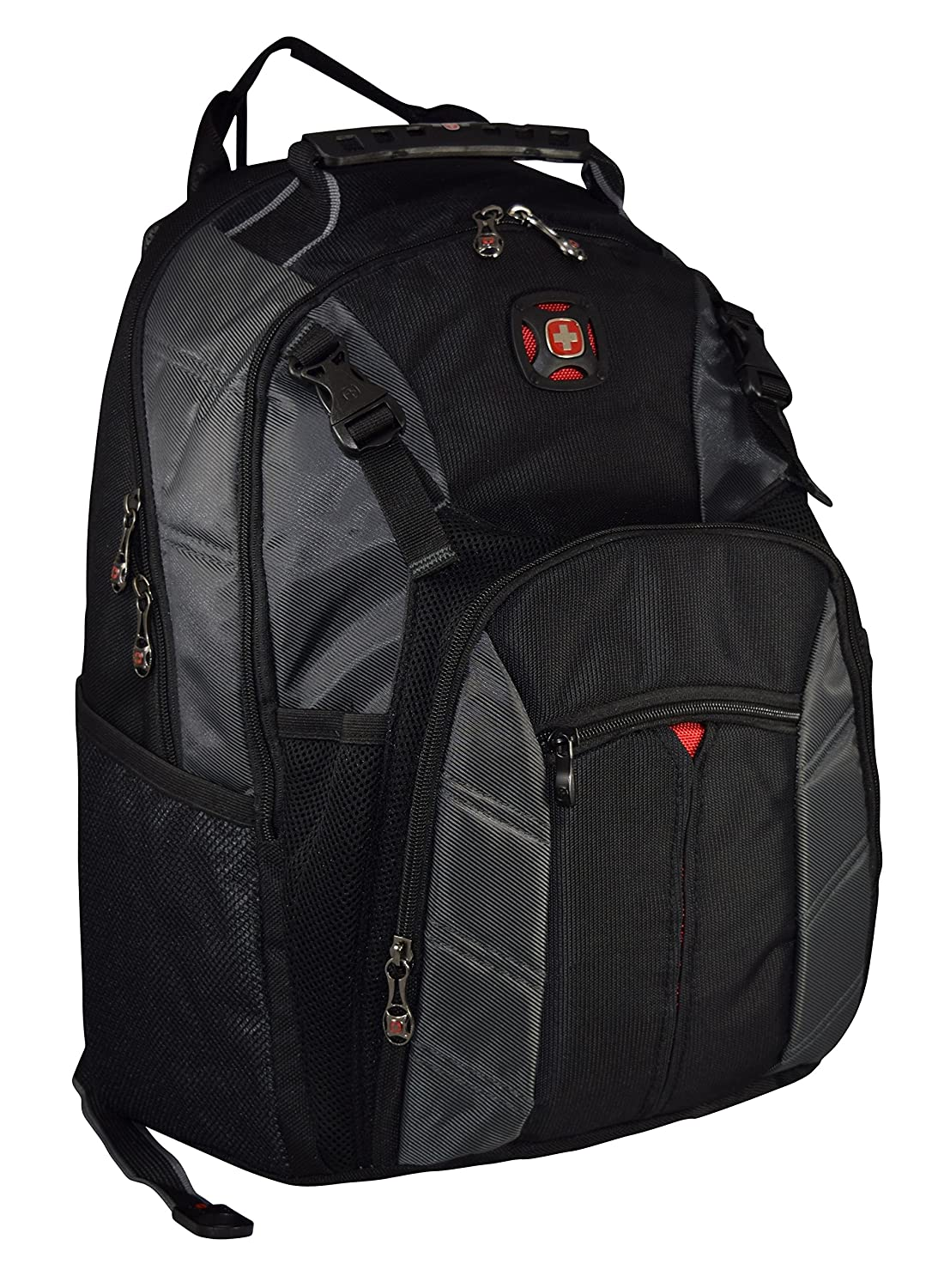 SwissGear The Sherpa 15.6 Padded Laptop Backpack School Travel Bag Black Charcoal