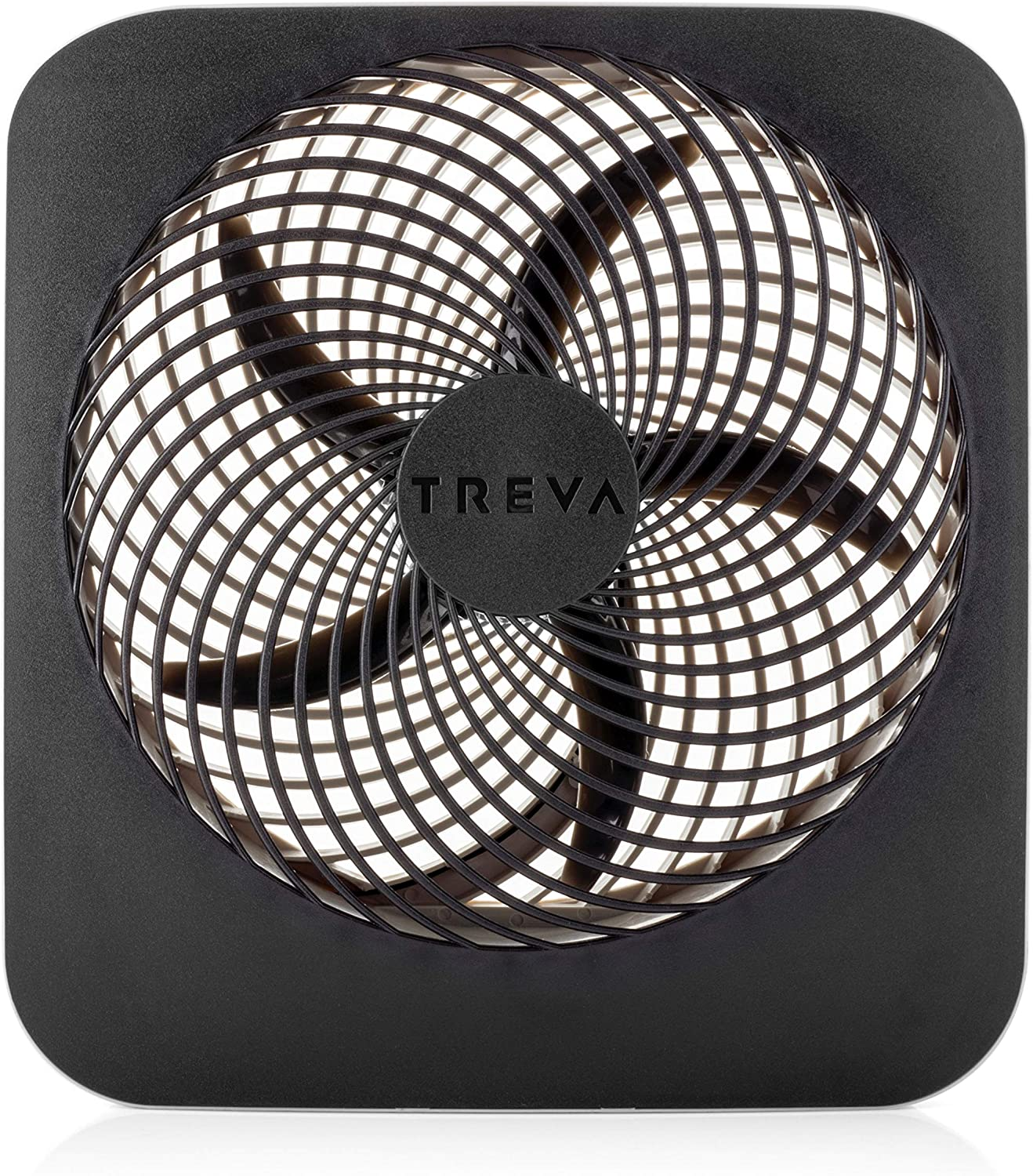 O2COOL Treva 10-Inch Portable Desktop Air Circulation Battery Powered Fan 2 Cooling Speeds with AC Adapter and USB Charging Port