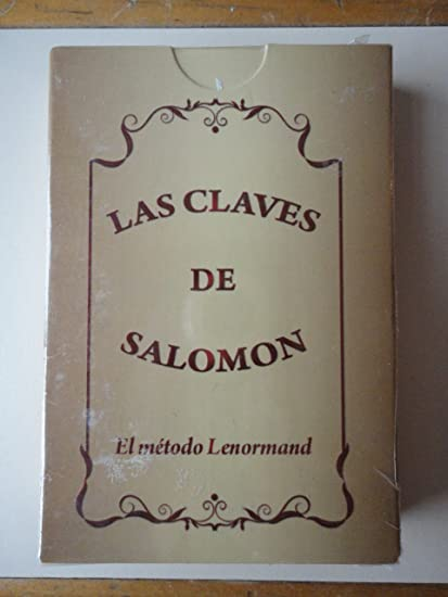 LAS CLAVES DE SALOMON Metodo Lenormand Cartas - Naipes