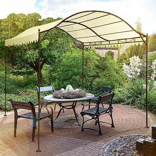 Miadomodo - Carpa de jardín / Cenador de metal para jardín o patio, Beis de la tela, 3, 1/3, 98/2, 46 m: Amazon.es: Jardín