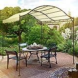 Miadomodo Gazebo parasole tendone padiglione 3 x 4 x 2,56 m colore beige