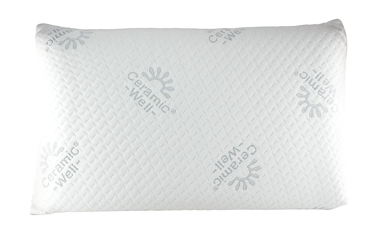 Confort du Sommeil Oreiller cervicale DE VOYAGE C/éramique /à M/émoire de forme pour la nuque 24x36x9 cm