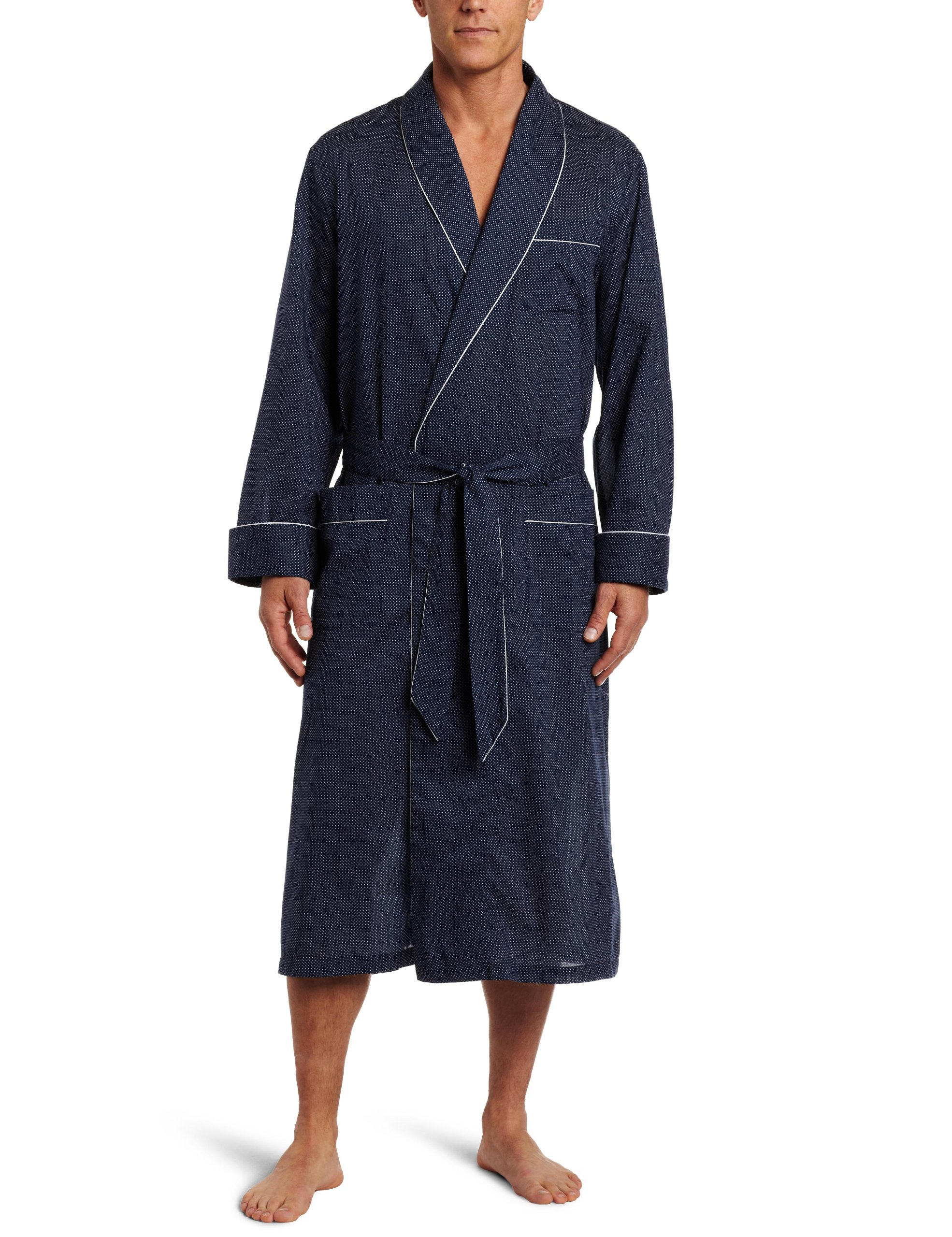 Derek Rose Men's Plaza Robe, Navy, XX-Large