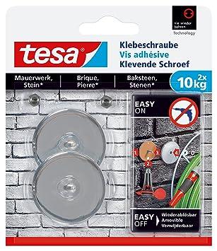 Tesa adhesivas Tornillo para muros y piedra, potencia de sujeción 10 kg, 2 unidades, 77909-00000-00: Amazon.es: Bricolaje y herramientas